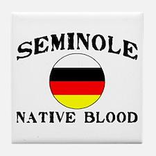 Seminole Native Blood Tile Coaster