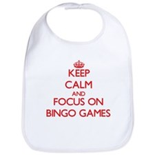Cute Keep calm and play Bib