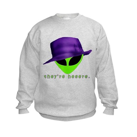 Aliens They're Heeere Kids Sweatshirt