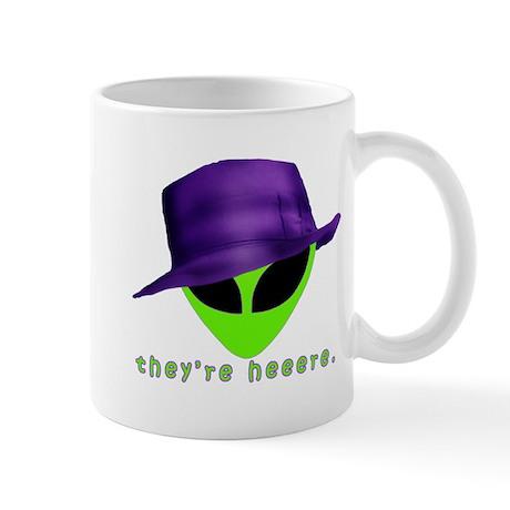 Aliens They're Heeere Mug