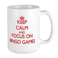 Keep Calm and focus on Bingo Games Mugs