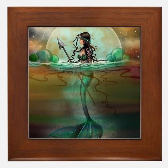 Unique Mermaid art Framed Tile