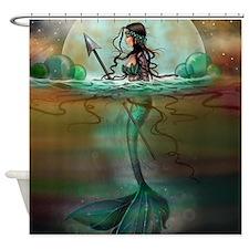 Funny Mermaid Shower Curtain