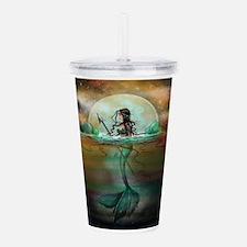Funny Mermaid Acrylic Double-wall Tumbler