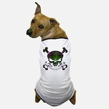 Sutherland Tartan Skull Dog T-Shirt