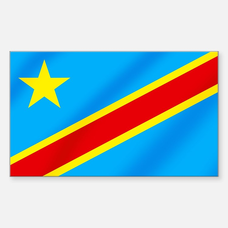 Congolese Flag Decal