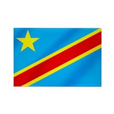 Congolese Flag Rectangle Magnet (100 pack)
