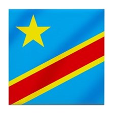 Congolese Flag Tile Coaster