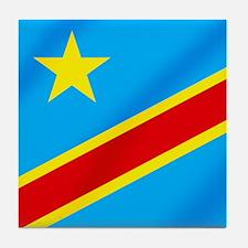 Congolese Flag Tile Coaster