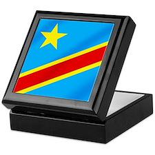 Congolese Flag Keepsake Box
