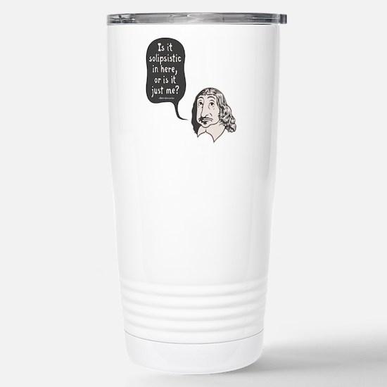Descartes Solipsism Stainless Steel Travel Mug