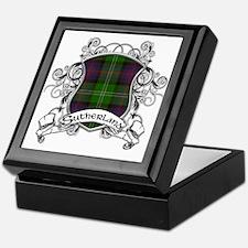 Sutherland Tartan Shield Keepsake Box
