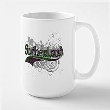 Sutherland Tartan Grunge Mug