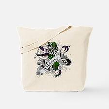 Sutherland Tartan Lion Tote Bag