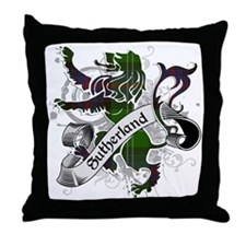 Sutherland Tartan Lion Throw Pillow