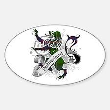 Sutherland Tartan Lion Sticker (Oval)