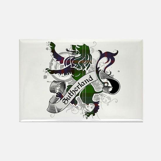 Sutherland Tartan Lion Rectangle Magnet