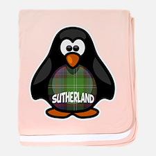Sutherland Tartan Penguin baby blanket