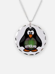 Sutherland Tartan Penguin Necklace