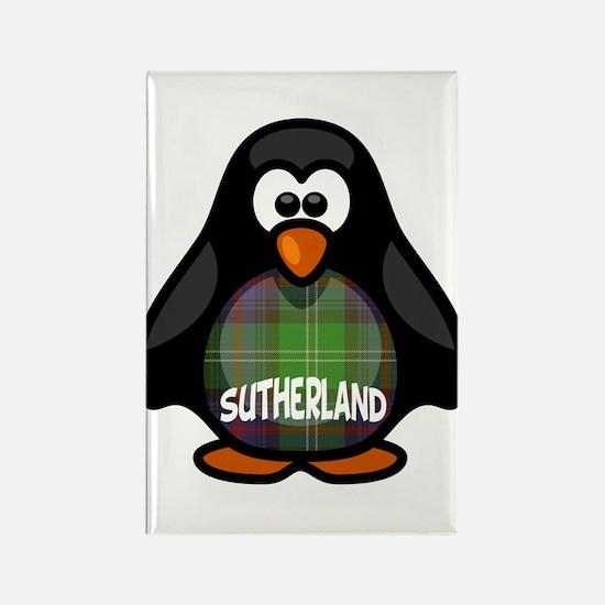 Sutherland Tartan Penguin Rectangle Magnet