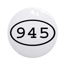 945 Oval Ornament (Round)