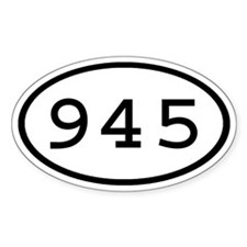 945 Oval Oval Decal