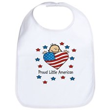 Proud American flag Bib