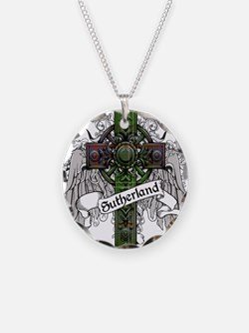 Sutherland Tartan Cross Necklace