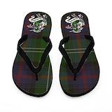 Sutherland clan tartan Flip Flops