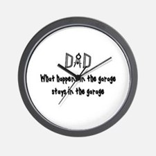 What Happens In The Garage Wall Clock