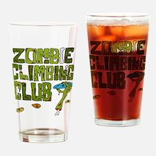 Zombie Climbing Club Drinking Glass