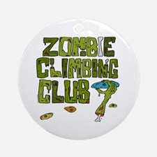 Zombie Climbing Club Ornament (Round)