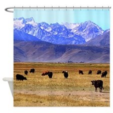 Mountain Cattle Shower Curtain