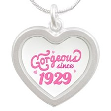 1929 Birth Year Gorgeous Silver Heart Necklace