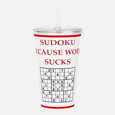 sudoku Acrylic Double-wall Tumbler