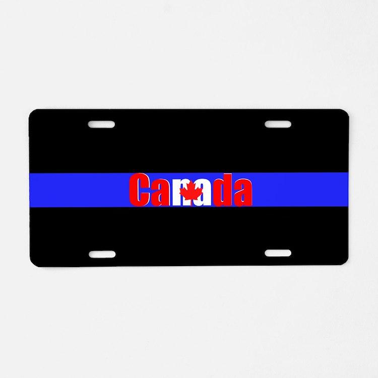 Canada Police Aluminum License Plate