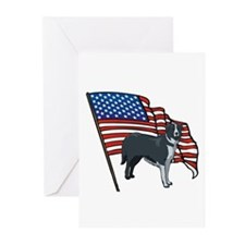 USA Border Collie Greeting Cards (Pk of 10)