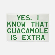 I Know Guacamole Is Extra Rectangle Magnet