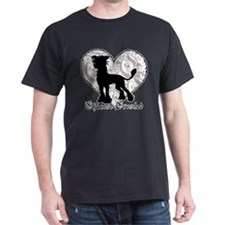 Chinese Crested Heart BW T-Shirt