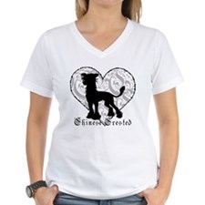Chinese Crested Heart BW Shirt