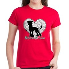 Chinese Crested Heart BW Tee