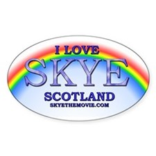 I Love Skye Rainbow Oval Decal