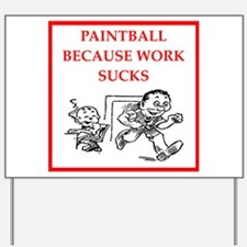 paintball Yard Sign