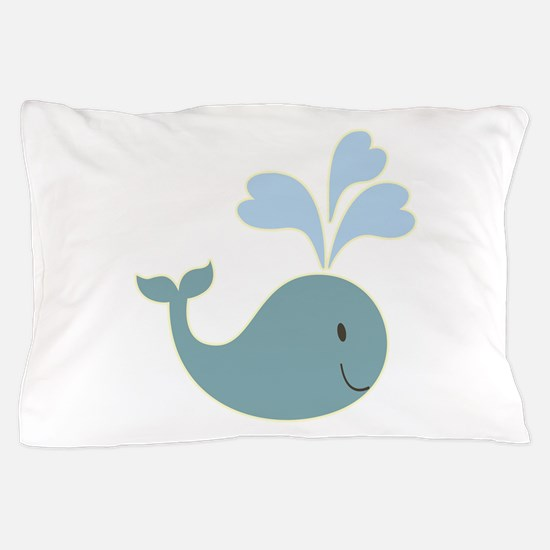 Cute Whale kid Pillow Case