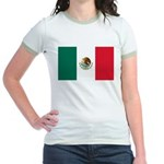 Mexico Flag Jr. Ringer T-Shirt