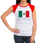 Mexico Flag Women's Cap Sleeve T-Shirt
