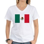 Mexico Flag Women's V-Neck T-Shirt