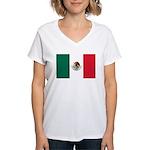 Mexico Flag Women's V-Neck T-Shirt
