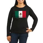 Mexico Flag Women's Long Sleeve Dark T-Shirt