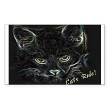 Cats Rule! Rectangle Decal